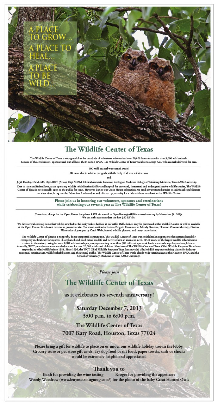 You're Invited! WCT Open House 2013